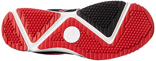 New Balance Men's T4040V3 Turf Baseball Shoe, Black/Red, 12.5 D US Black/Red