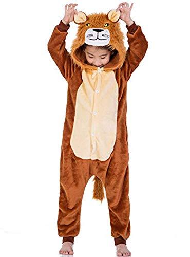 Tier Löwe Pyjamas Cosplay Kostüm Karneval Halloween Pyjamas Schlafanzug mit Kapuze Erwachsene