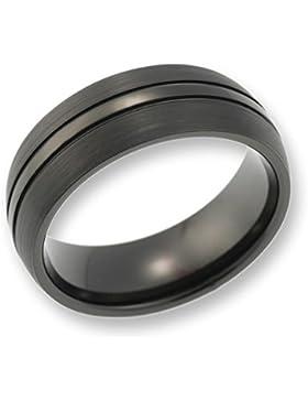 CORE by Schumann Design Herren-Ring Wolframcarbid gebürstet schwarz ohne Stein (CORE Wolfram Basic Collection)...