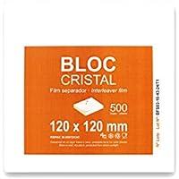 Luxos Packaging Bloc Cristal - Film separador de alimentos, 12 x 12 cm, 500 hojas