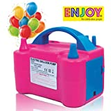 ENJOY the celebration people New Two Nozzles High Power Electric Balloon Inflator Air Pump for Balloons; Foil Balloons; Inflatable Toys (Pink; Medium)