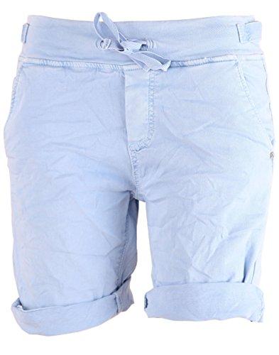 BASIC.de Bermuda-Shorts Hellblau Cotton-Stretch