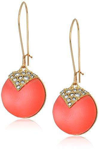 Alexis Bittar Crystal Encrusted Origami Inlay Dangling Sphere Kidney Wire Drop Earrings