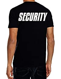 SECURITY - T-Shirt + CAP ! schwarz S M L XL 2L 3XL 4XL 5XL Druck vorne und hinten !