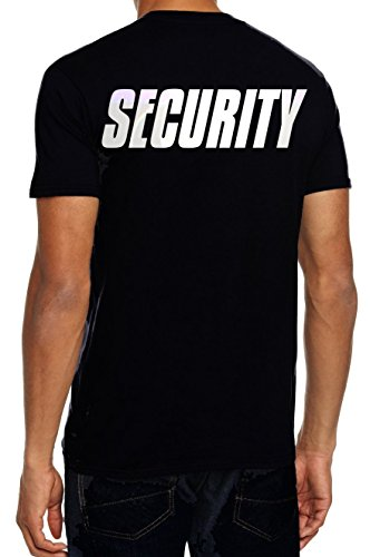 SECURITY T-Shirt + CAP ! Druck vo+hi ! schwarz Gr.XL