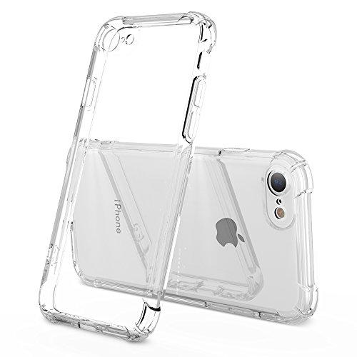 HZRICH Coque iPhone 8, Coque iPhone 7, [Liquid Crystal] Clair Transparent Doux Souple Housse Bumper TPU Silicone[Shock-Absorption] Anti-Rayures Anti-Dérapante Cover pour iPhone 7-4,7 Pouces - Clair