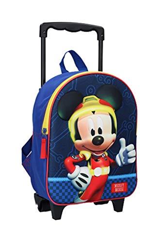 Bagagli (borse, zaini, astucci, ombrelli). Disney, Topolino, Minnie, Donald. Fantasia (zaino trolley 3D Mickey 088-9765, 31 x 25 x 12 cm)