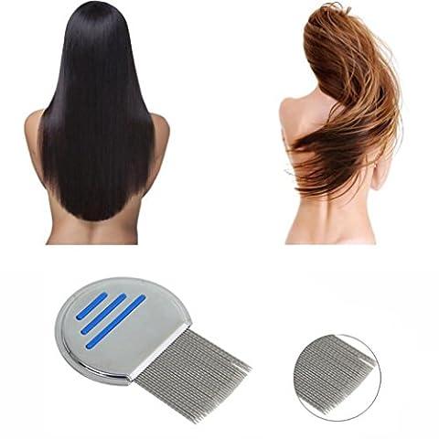 Peigne anti poux peigne Cheveux débarrassés Tête de tête inoxydable