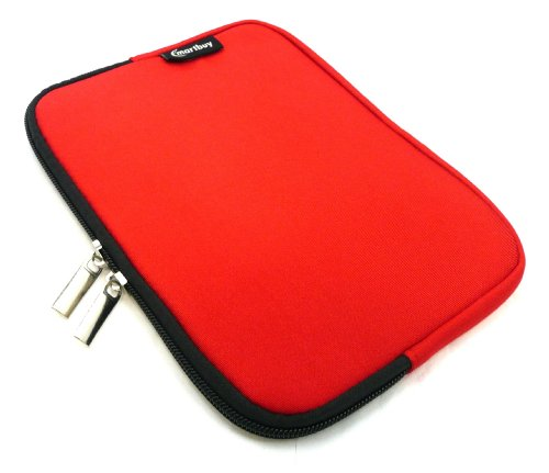 Emartbuy® Rot Wasser Resistant Neoprene Weich Zip Case Cover Tasche Hülle Sleeve Geeignet Für I.onik TP - 1200QC 7.85 Inch Tablet (8 -Zoll-Tablet )