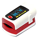SXFYMWY Fingerspitzen-Oximeter mit LED-Display Multi-Functional Design Portable Home Oxygen Saturation Monitor,Red,60x40x30mm