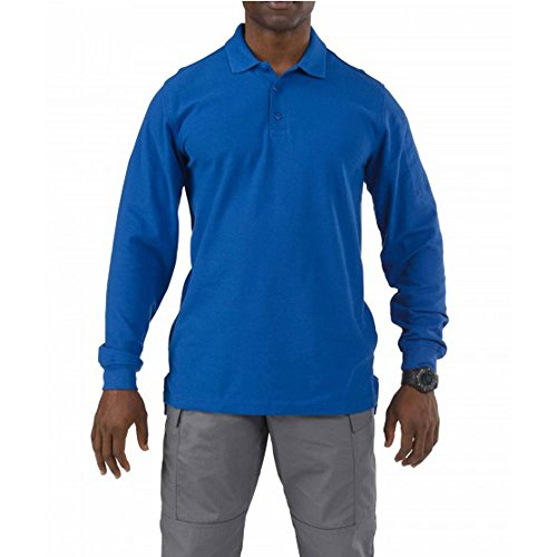 5.11Herren Utility Lange Ärmel Polo Shirt Academy Blue