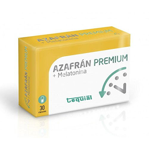 AZAFRAN + MELATONINA Premium. Food supplement that improves mood, digestive, delays aging and antioxidant. Natural remedy for nervousness, stress and anxiety.