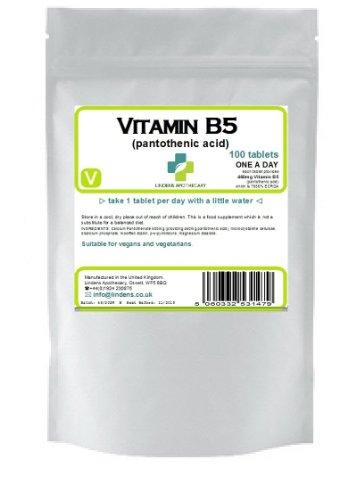 La vitamine B-5 100 x 460mg comprimés (Acide pantothénique)