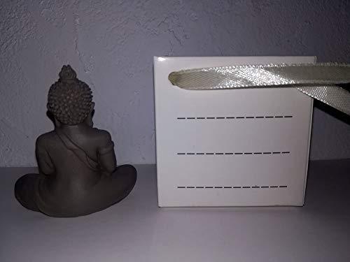 Casablanca 2x Figur Mini Buddha in Tüte grau - 3