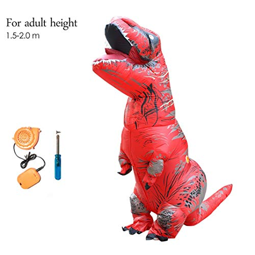 About Beauty Aufblasbare TREX-Kostüm Erwachsene Kinder Dinosaurier Für Männer Frauen T Rex Jumpsuit Party Halloween Cosplay Blowup Disfraces Outfit,Adult