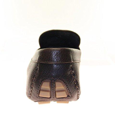 Mokkasins Herrenschuhe Echt Leder Farbe Chocolate Chocolate