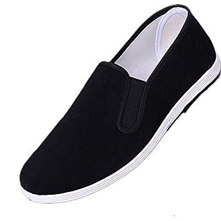 Sibba Slipper, KungFu/TaiChi/Tsun Schuhe mit Stoffsohle und verdickter Gummisohle für Damen und Herren (EU43(275mm))