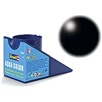 Revell 36302 Aqua Color - Pintura acrílica mate sedoso (18 ml), color negro RAL 9005