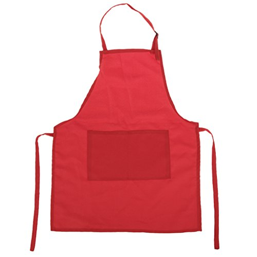 Tablier Enfant pour Cuisine Peinture Blouse Artisanat - Rouge