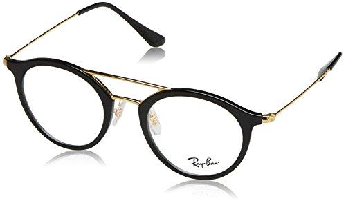 Ray-Ban Unisex-Erwachsene Brillengestelle 7097, Schwarz (Negro), 47