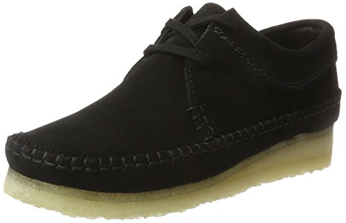 Clarks Originals Damen Weaver. Derbys, Schwarz (Black SDE), 42 EU (Wallabee-schuhe Frauen)