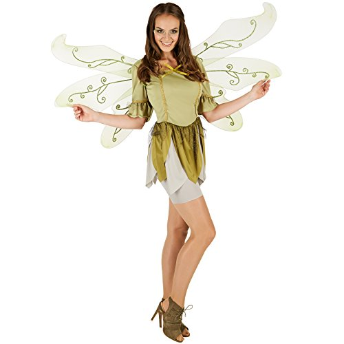 Kostüme Halloween Wald Tier (Frauenkostüm Waldschmetterling Alraune | Bezauberndes Märchenkleid | Inkl. Unterrock (M | Nr.)