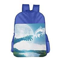 Fantasy Art Nature School Backpack Children Shoulder Daypack Kid Lunch Tote Bags RoyalBlue