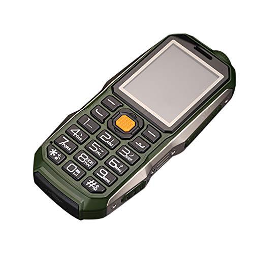 Altsommer Stoßfest Senioren handys mit Große Stimme,Dual-SIM,Großen Tasten,Bluetooth, Taschenlampe,FM Radio,Lange Standby-Zeit Mobiltelefon,Multi Sprachen, GPRS Seniorenhandy (Armee Grün)