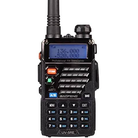 Baofeng UV-5RE Dual Band UHF / VHF radio bidirezionale con auricolare