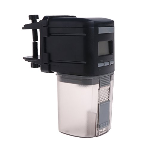 Tandou Alimentador automático de Peces, Acuario, Tanque de 4 Horas, dispensador Digital de alimentación de Alimentos