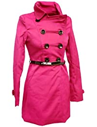 Classy short coat / trenchcoat with belt (3D109)
