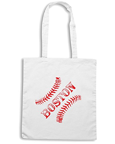 T-Shirtshock - Borsa Shopping OLDENG00174 mgd boston Bianco