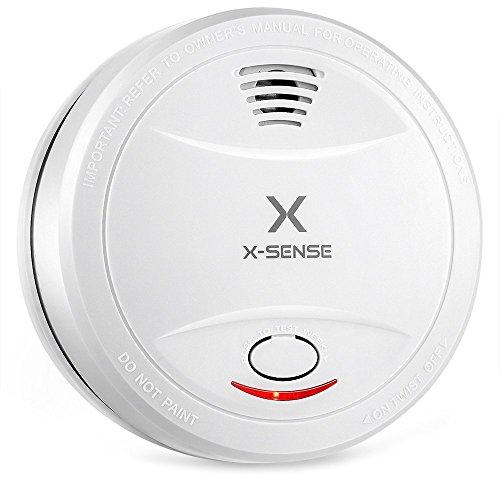 1-er Rauchmelder, X-Sense SD12 Din EN 14604 Brandmelder mit 10 Jahren Batterien und Tüv...