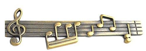 Unbekannt Musikzeile Musiknoten Notenschlüssel Krawattennadel Klammer 5,9 cm Bicolor inkl. Silberbox