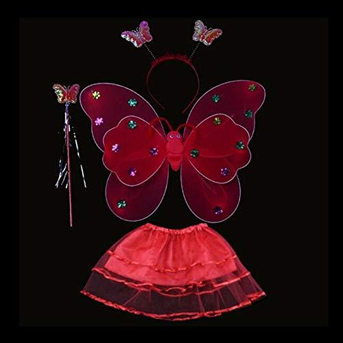 Auntwhale Weihnachten deko Weihnachten Dekoration Mädchen LED Flash Fairy Schmetterling Flügel Kopf Spielzeug Dekoration für Familie/Party/Laden
