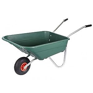 Walsall – Carretilla para jardín (90 L, polipropileno), color verde
