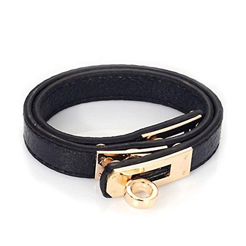 bracelet-en-cuir-vritable-noir-double-tour-et-fermoir-plaqu-or