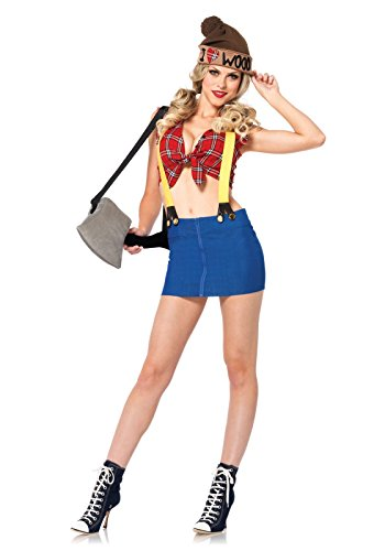 LEG AVENUE 85250-4 Tlg. Kostüm Set Sexy Holzfäller, Größe XS, Damen Karneval Kostüm Fasching