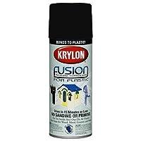 Krylon Fusion For Plastic Paint Satin Black - Lot of 6 by Krylon