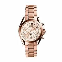 Michael Kors Mini Bradshaw Women's Pink Dial Stainless Steel Analog Watch - MK5799