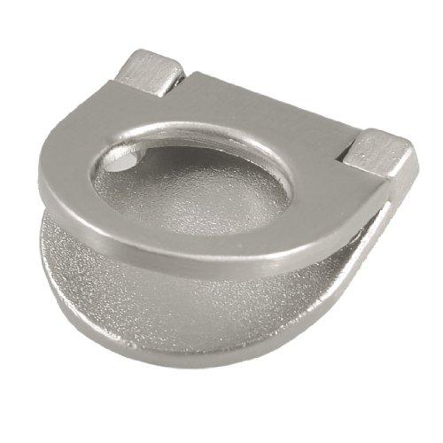 Sourcingmap a12092700ux0310 - Silver mezzo tono di metallo a forma rotonda armadio tirare la maniglia dell'anello w vite