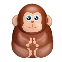 NEWLUK Slow Rising Squishy,Cartoon Monkey Squishy Toy, Sweet Scented Vent Charms Toy Cute Kid Toy Hand Toy, Lovely Stress Relief Toy , Decorative Props Christmas
