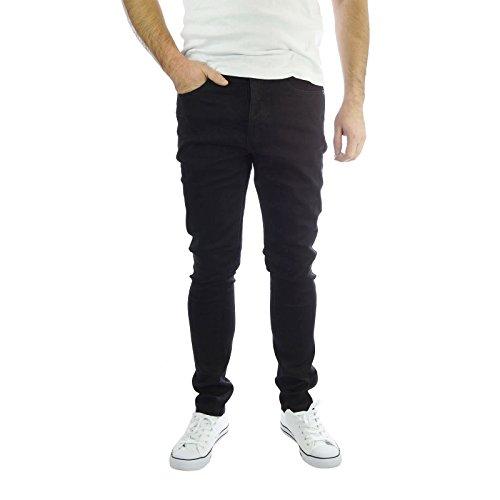 jeans-da-uomo-brave-soul-aegon-skinny-elasticizzato-nero-casual-denim-pantaloni-nero-34w-x34-l