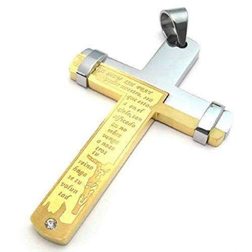 """Daesar Acciaio Inossidabile Uomo Ciondolo Collana Oro Lord Signore La Preghiera Croce Pendenti Di Collana 18-26"""" Link"""