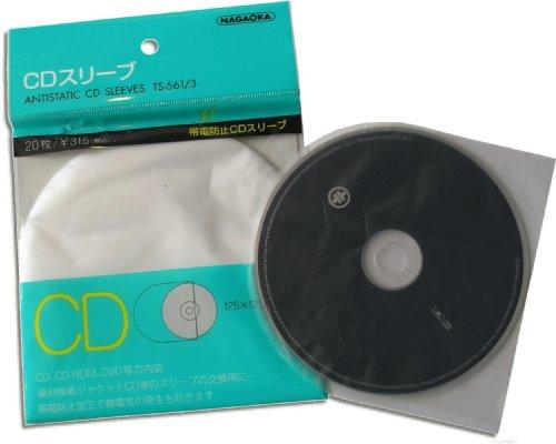 CD Schutzhüllen produced by NAGAOKA Japan (20 Stück)
