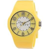 Miss Sixty FLASH R0751124505 - Reloj analógico de cuarzo para mujer, correa de resina color amarillo