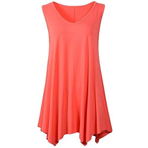 MRULIC Damen Oberteile Helle Farbe mit Knöpfe Geripptes Bluse(Z-Orange,EU-42/CN-L) (Knopf Herren-kleiner Vorne)