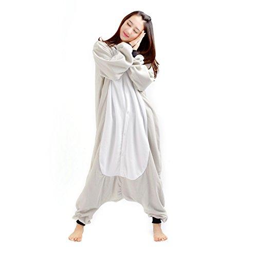(Hstyle Unisex Tier Schlafanzug Kigurumi Onesie Pyjamas Overall Nachtwäsche Cosplay Kostüme Kleid Koala M)