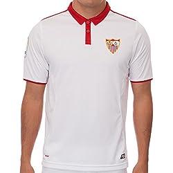 Nueva Temporada Sevilla FC Sergio Coke Vicente iborra Home Jersey de fútbol en blanco, hombre, blanco, large