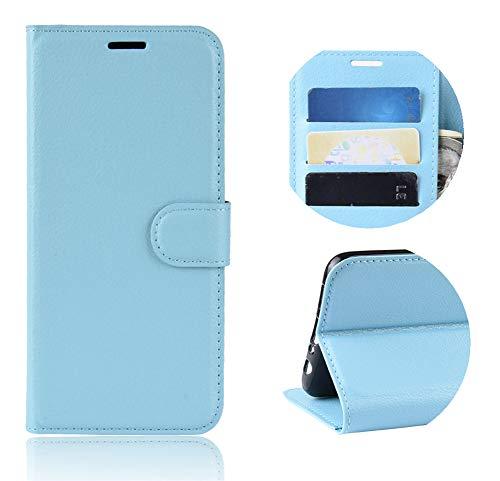 XunEda Funda para ZTE Blade V10 Vita, Flip Funda Wallet Case Caso Móvil Cuero PU Función de Soporte Protectora Case para ZTE Blade V10 Vita Smartphone (Azul)